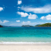 Beautiful tropical beach with white sand, turquoise ocean water