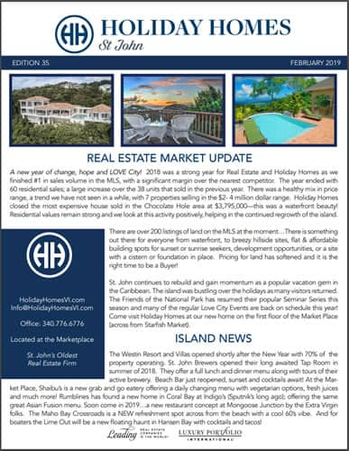 Feb 2019 St John Real Estate Market Update